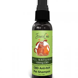 flowerchild cbd pet shampoo